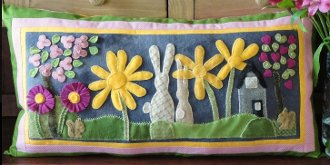 Spring Wooly Pillow Pattern by Sunflower Fields Pattern Company