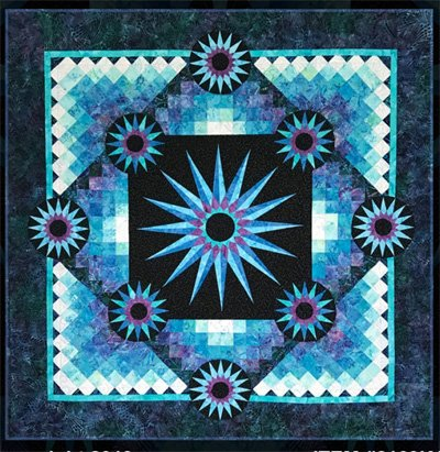 Shaded Stars Quilt Pattern by KwiltArt