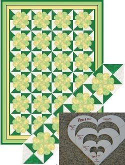 Shadow Hearts Quilt Pattern FREE with Purchase of the View & Do Hearts Shapes by Kaye Wood