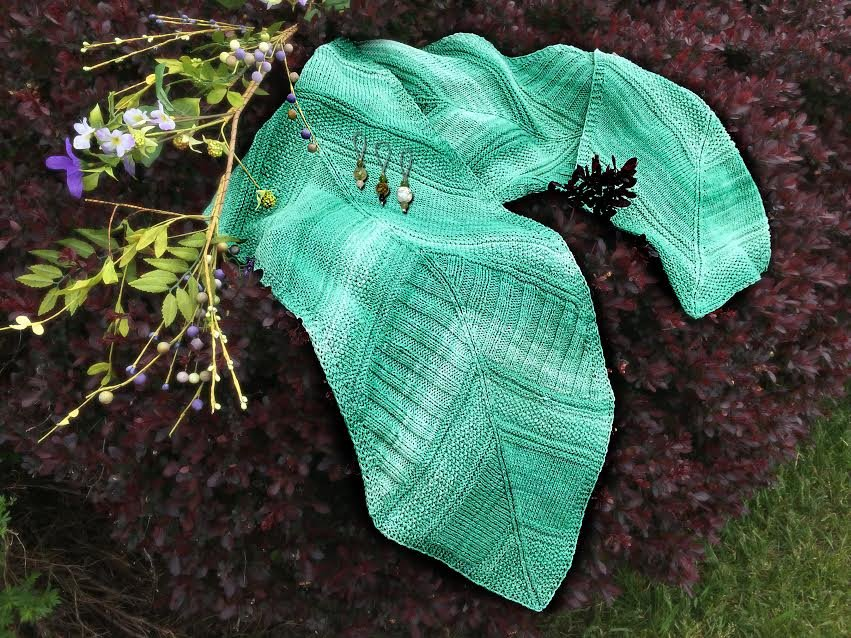 Facets of Michigan Shawl #3 - Irish Hills (Architexture Pattern by Jennifer Weissman Designs)