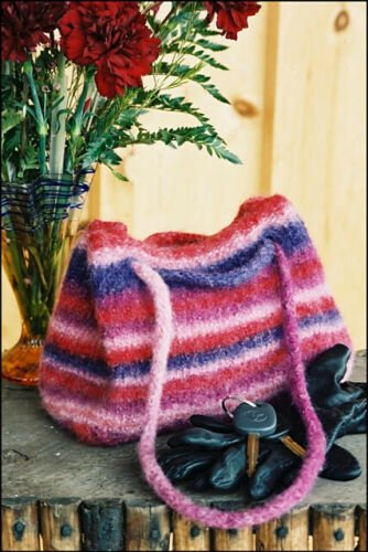 Sheepstrings Knitted and Felted Bag Pattern by Cabin Fever #707