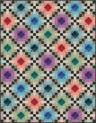 Shimmering Chain Quilt Pattern in 2 Sizes by Nancy Dill