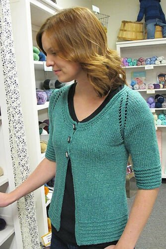 Short Sleeved 3 Button Cardigan 1401 for Women Knitting Pattern by Knitting Pure and Simple
