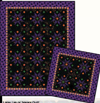 Cats in the Moonlight Quilt Pattern in 2 Sizes by Sonja Lea Designs