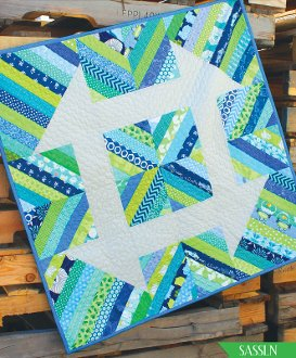 Mini Churndash Court Quilt Block Pattern by Sassafras Lane Designs
