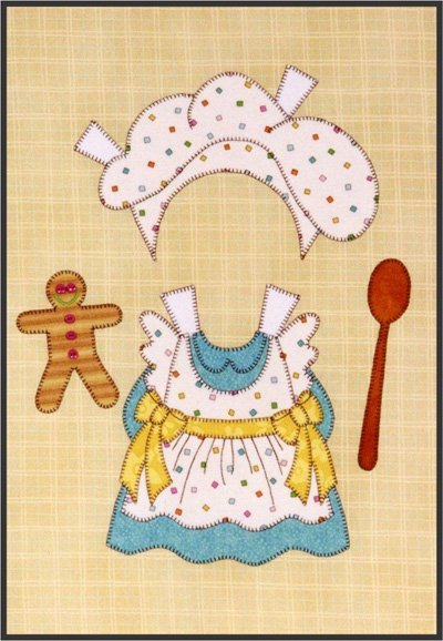 Small Chef from the Sugar and Spice Quilt Epattern by Amy Bradley Designs