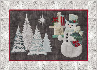 Snowman Block from the Joyeux Noel Quilt Pattern by McKenna Ryan