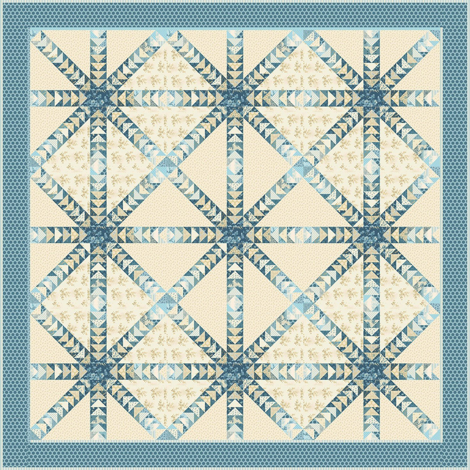 Something Blue Quilt Pattern by Laundry Basket Quilts
