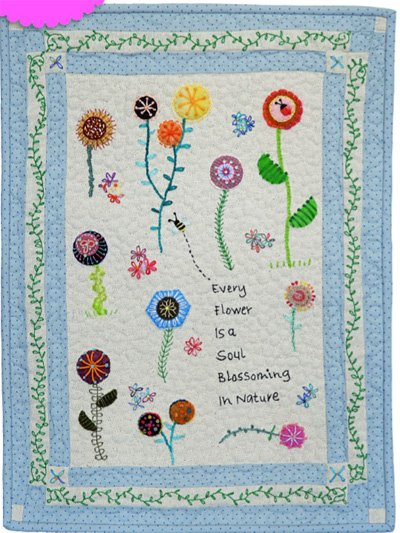 Soul Blossoms Embroidery Wallhanging Epattern by Charism Horton