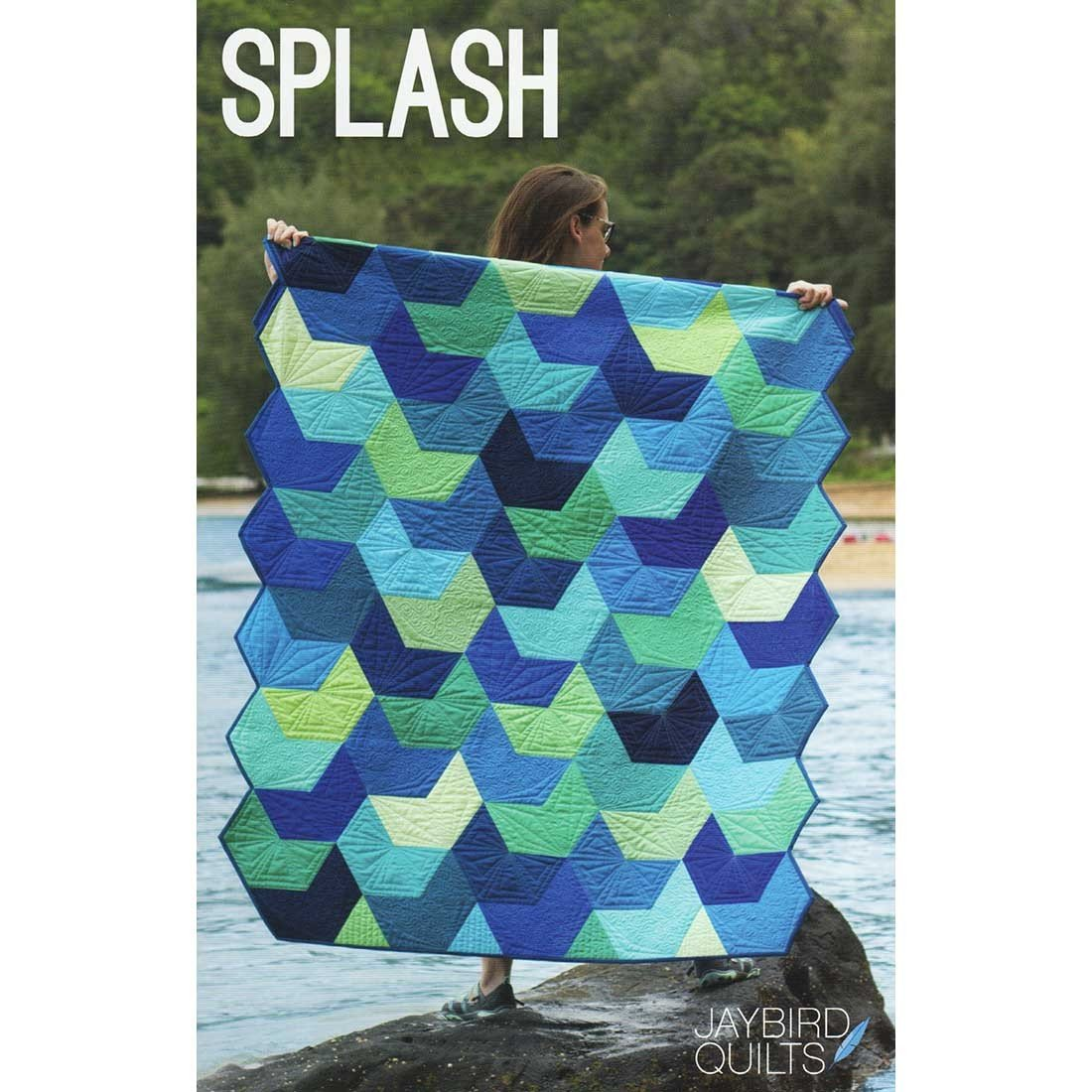 Splash Quilt Pattern in 5 Sizes by Jaybird Quilts
