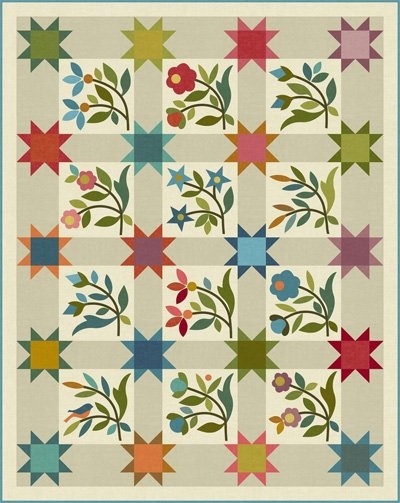 Spring Sprouts Applique Quilt Pattern by Laundry Basket Quilts