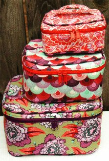 Crimson and Clover Train Cases Pattern by Sew Sweetness