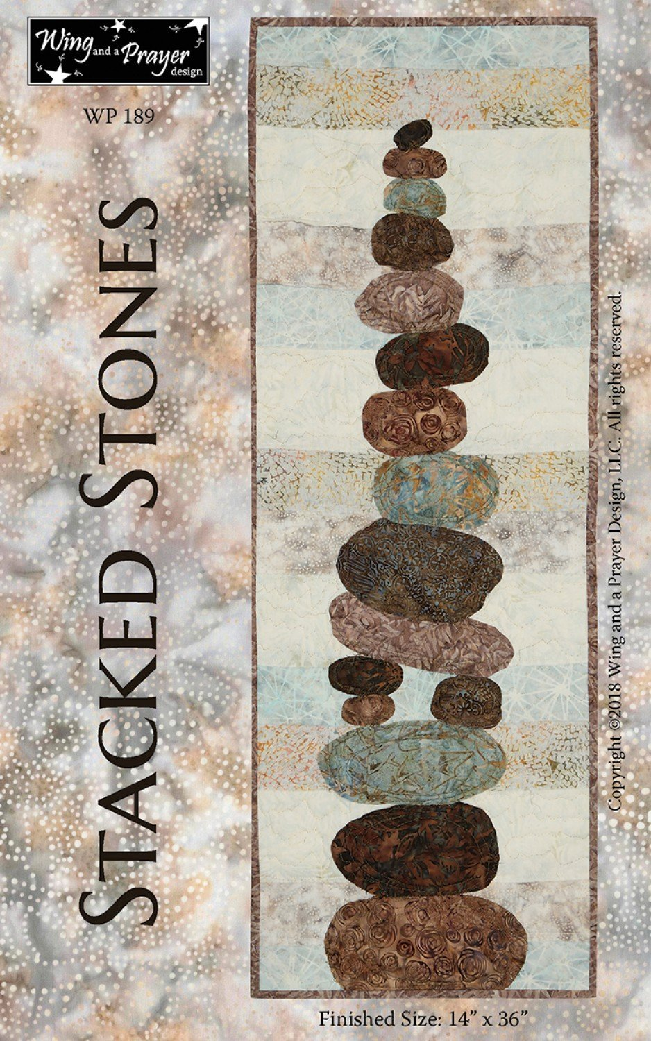 Stacked Stones Wall Hanging Pattern by Wing and a Prayer