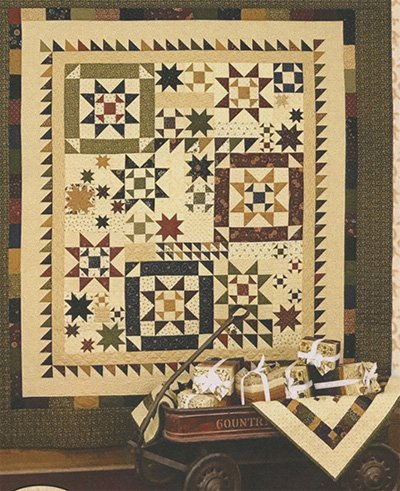 Star Cluster Quilt Pattern by Kansas Troubles Quilters