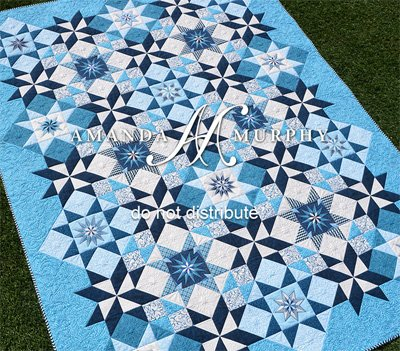 Stardust Quilt Pattern in 2 Sizes by Amanda Murphy