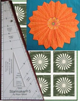 Starmaker 5 Master Template and FREE Chrysanthemum Quilt Pattern by Kaye Wood
