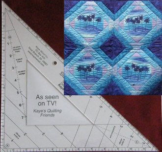 Starmaker 8 Master Template and FREE Pineapple Play Pattern by Kaye Wood