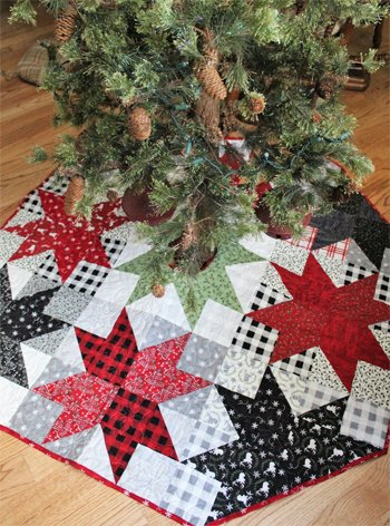 Stars From Above Tree Skirt Pattern by Creek Side Stitches