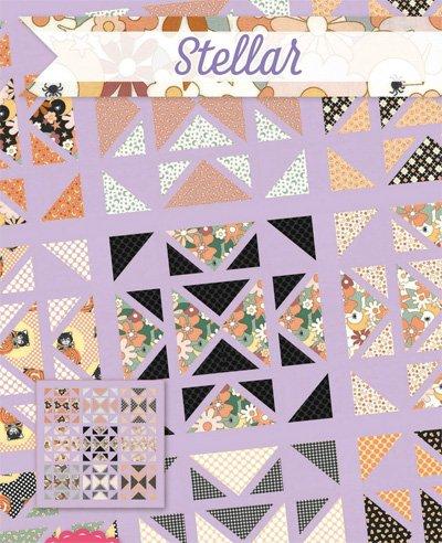 Stellar Quilt Pattern in 4 Sizes by It's Sew Emma