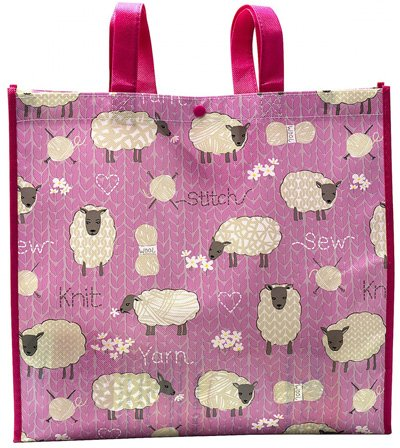 Stitch and Knit Sheep Reusable Tote Bag Pattern by Tacony