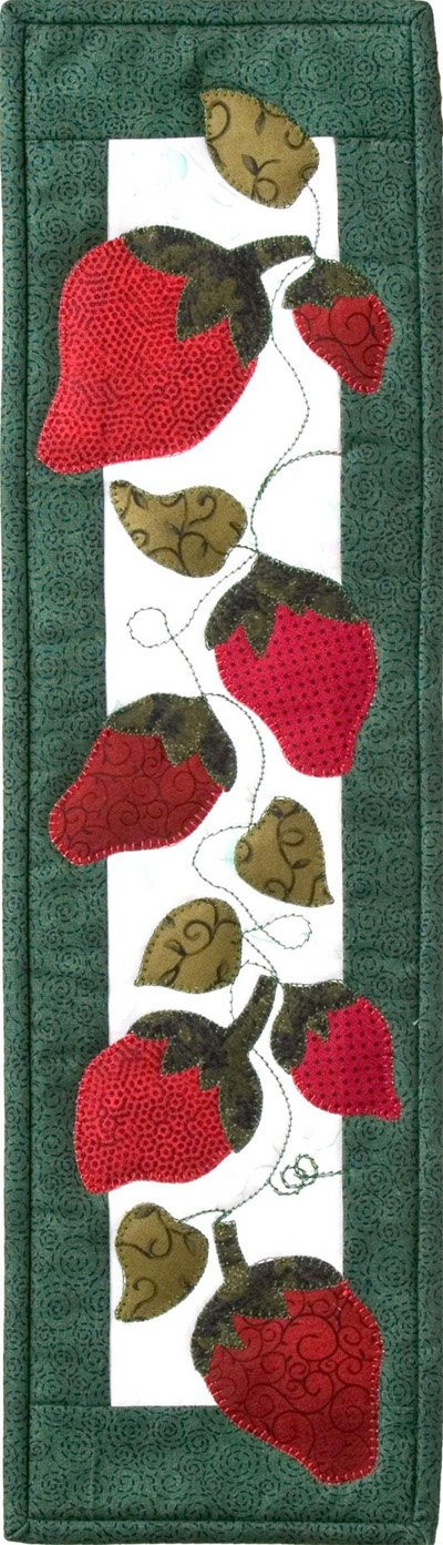 Strawberries Applique Wallhanging/Table Runner EPattern by Patchabilities