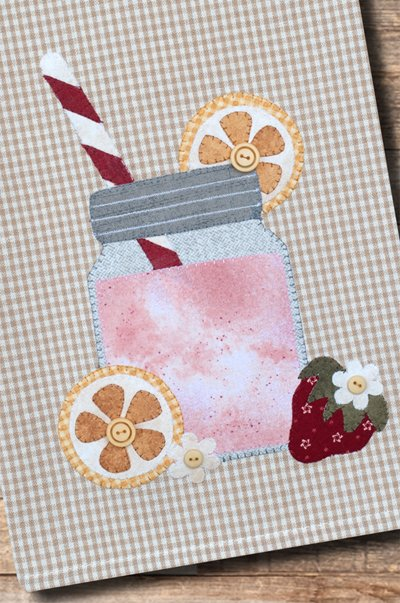 Strawberry Lemonade Applique Patternlet by The Wooden Bear