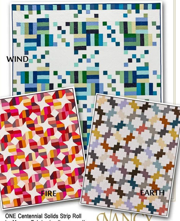 Strip It Three Ways Quilt Series 2 by Nancy Rink Designs