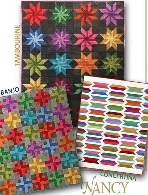Strip it Three Ways: Series 4 Quilt Patterns by Nancy Rink Designs