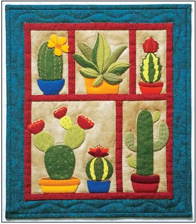 Succulents Wall Quilt Pattern by Rachel's of Greenfield