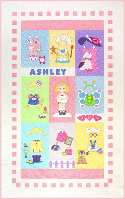Sugar and Spice Paper Dolls Quilt Epattern - Complete by Amy Bradley Designs