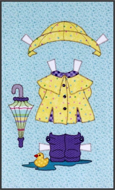 Puddles are Fun from the Sugar and Spice Quilt Epattern by Amy Bradley Designs