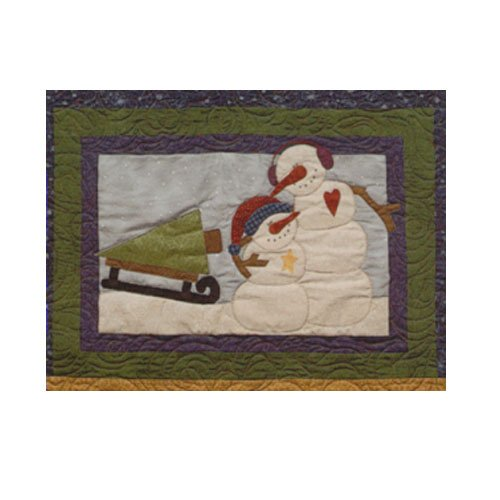 Sugarplum Series Snowman Block Pattern by Briarwood Cottage