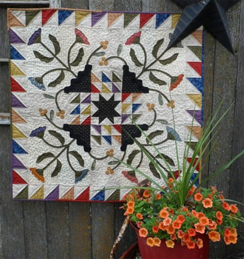 Summer Serendipity Wallhanging/Table Topper by Snuggles Quilts