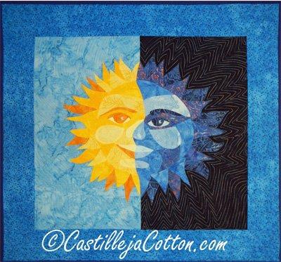 Sun and Moon Quilt Epattern by Castilleja Cotton