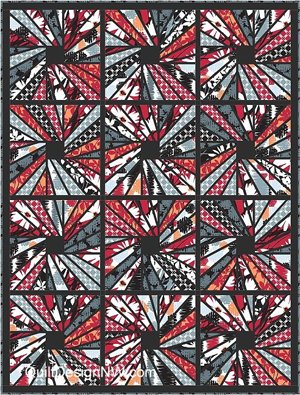 Sunrays Quilt Pattern by Quilt Design NW