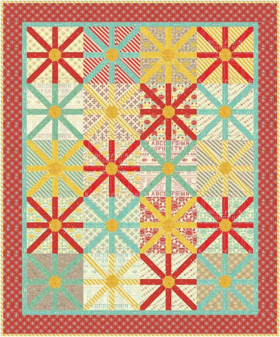 Sunshine Quilt Pattern by Aunt Em's Quilts