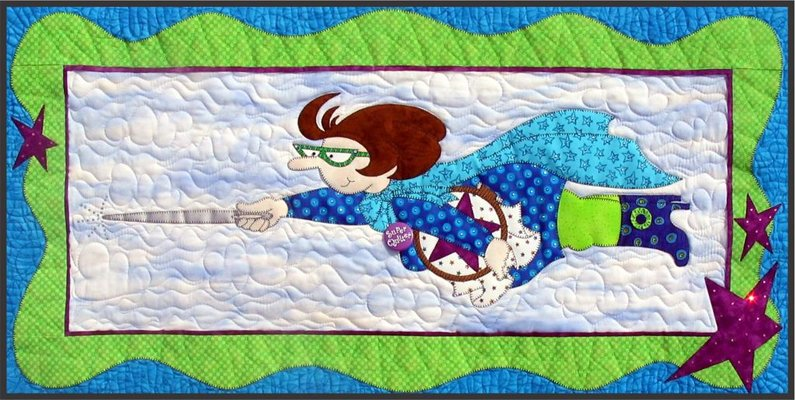 Super Quilter Wallhanging Epattern by Amy Bradley Designs