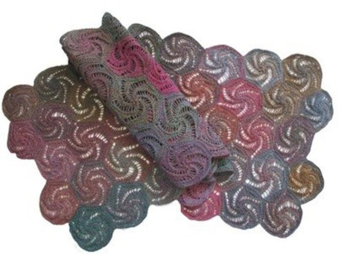 Swirl Shawl Pattern by Jojoland