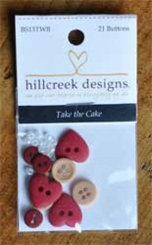 Take The Cake 21 Pc Button Pack by Hillcreek Designs