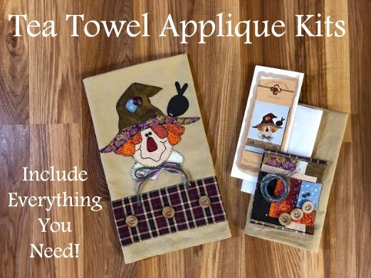Happy Scarecrow Applique Kit by The Wooden Bear