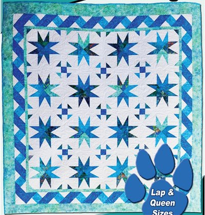 Teal We Meet Again Quilt Pattern in 2 Sizes by Deb's Cats N Quilts