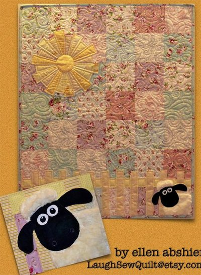 The Lamb in the Roses Quilt Pattern by LaughSewQuilt