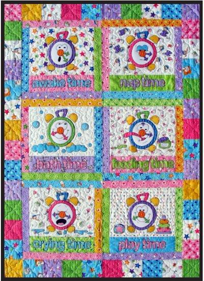 Tick Tock Clocks Quilt Epattern by Amy Bradley Designs