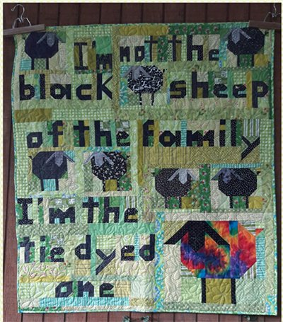 Tie Dyed Sheep Quilt Pattern by Aunt Em's Quilts