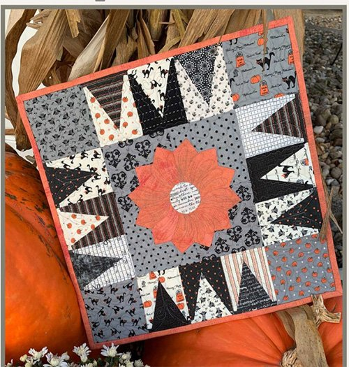 Tiny Witch Hats Wallhanging Pattern by Suzn Quilts