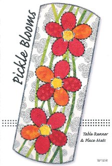 Pickle Blooms Table Runner and Place Mats Pattern by Tiger Lily Press