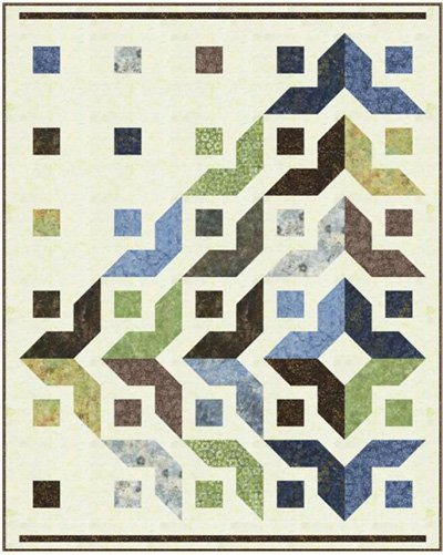 Trailside Quilt Pattern in 3 Sizes by Marlous Designs