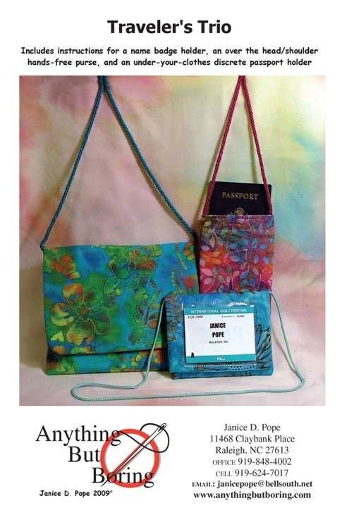 Traveler'sTrio Bag Patterns by Anything But Boring