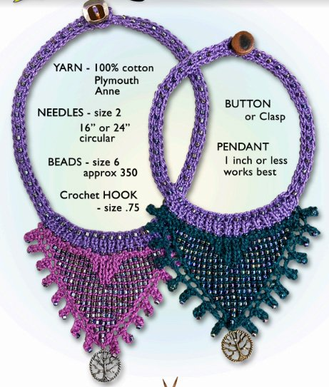 Tree of Life Knitted Beaded Necklace Kit by North Woods Knit & Purl