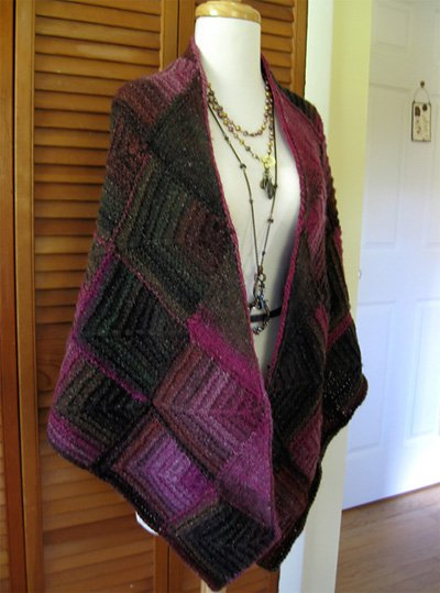Triangle Shawl Pattern #1110 by Plymouth Yarns